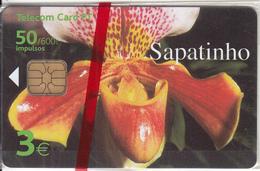 MADEIRA(PORTUGAL) - Flower, Sapatinho, Tirage 30000, 01/01, Mint - Télécartes