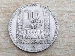 1947 B 10 Franc Coin - Ex Fine, Uncleaned - K. 10 Francs