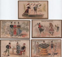 Lot De 5 Chromo à Liseré Doré/ Chocolat Félix Potin/Garantis Purs Cacao & Sucre/  /Vers1890-1900   IMA328 - Chocolate