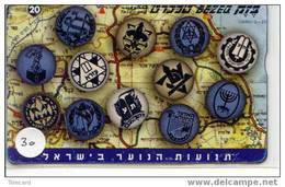 TELECARTE * ISRAEL * Padvinder - Scouting - Jamboree - Scoutisme - Scaut - Pfadfinder - Pfadi - Scout On Phonecard (30) - Schede Telefoniche