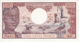 BILLETE DE TCHAD DE 500 FRANCS DEL AÑO 1974 SIN CIRCULAR-UNCIRCULATED  (BANKNOTE) - Tschad