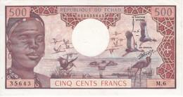 BILLETE DE TCHAD DE 500 FRANCS DEL AÑO 1974 SIN CIRCULAR-UNCIRCULATED  (BANKNOTE) - Tsjaad