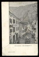 PRIMOLANO - CISMON DEL GRAPPA - VICENZA - 1913 - VIA UMBERTO 1° CON ALBERGO ALLA POSTA - Vicenza