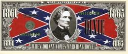 "Militaria -Billet Commémoratif  De ""One Million Dollars"" -A Nation Divided 1861/1865 - United States Of America"