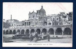 Torre Annunziata Vista Dal Molo. Chiesa Del Carmine. Soldato Armato. Ca 1900 - Torre Annunziata
