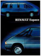 RENAULT ESPACE CATALOGUE 2 PAGES 1987 Format A4 FRANCE - Publicités
