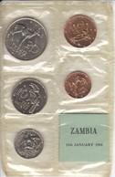 LOTE DE 5 MONEDAS DE ZAMBIA TODAS SIN CIRCULAR EN SU FUNA ORIGINAL (COIN) UNCIRCULATED - Venezuela