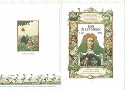 4 Documents FDC Littérature Jeunesse Jean De LA FONTAINE+PERRAULT Le Chat Botté+ La Comtesse De SEGUR+La Bande Dessinée. - Vieux Papiers