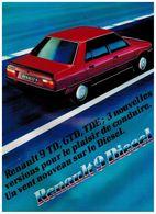 RENAULT 9 DIESEL CATALOGUE 3 VOLETS 1983 Format A4 FRANCE - Publicités
