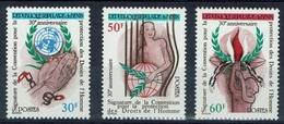 Benin, Human Rights, 1980, MNH VF  Complete Set Of 3 - Benin - Dahomey (1960-...)