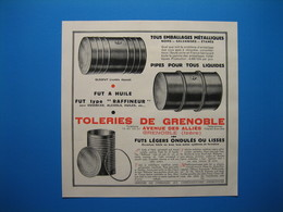 (1931) Emballages Métalliques, Fûts - TÔLERIE De GRENOBLE - Avenue Des Alliés à Grenoble (Isère) - Non Classés