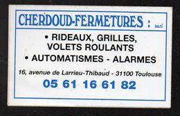 CHERDOUD FERMETURES 31100 TOULOUSE - Autocollant  - Ref: 740 - Stickers