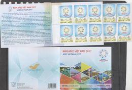 VIETNAM , 2017, MNH,APEC,  BOOKLET OF 10 STAMPS - Organizations