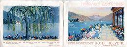 Hotel Helvetie Montreux Schweiz / Dépliant De Six Feuillets / - Tourism Brochures