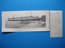 """(1895) LE HAVRE - Le Croiseur """" POTHUAU """" échoué à La Suite De Son Lancement - Documents Historiques"""