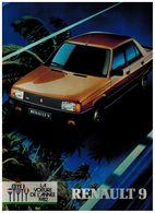 RENAULT 9 CATALOGUE 22 PAGES 1983 Format A4 FRANCE - Publicités