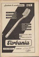 VERBANIA 270M - Spazzolino Sterilizzato - Stabilimento In CANNERO -  Pagina Tratta Da Rivista T.C.I. Anni '50 - Publicités