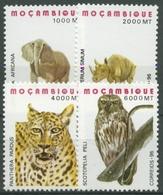 Mocambique 1996 Einheimische Tiere Leopard Fischeule Elefant 1363/66 Postfrisch - Mozambique