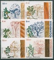 Mocambique 1984 Bäume Blüten Holz 973/78 Postfrisch - Mozambique