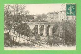 CPA FRANCE 81  ~  RABASTENS  ~  Le Pont Du Murel  ( Mauriès 1918 )  2 Scans - Rabastens