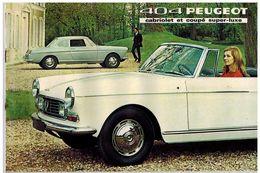 PEUGEOT 404 COUPE ET CABRIOLET CATALOGUE 8 PAGES 1968 Format A4 FRANCE - Publicités