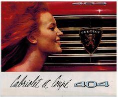 PEUGEOT 404 COUPE ET CABRIOLET CATALOGUE 3 VOLETS 1964 Format 24 X 19.5 FRANCE - Publicités