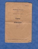 Carte D'identité Ancienne - REIMS - 1939 - Marie Joseph Maurice RONEZ Né à SOMME SUIPPE En 1890 Empreinte Cachet Prefet - Documents Historiques