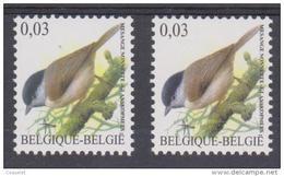 BE 2005 - N°3389 XX Terne( TRC2)+3389a XX TRC3 - 1985-.. Pájaros (Buzin)