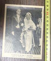 ANNEES 20/30 ANNONCE DE MARIAGE V DELFOSSE ET LE DOCTEUR H BATTEUR - Vieux Papiers