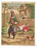 CHROMO - Mercerie Bonneterie Vve GOUDALIER à ABBEVILLE - Les Deux Coqs - Chromos