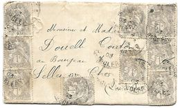 LF A48  Lettre De 1903 Affranchie De 15 Timbres à 1c N°107 - Marcophilie (Lettres)