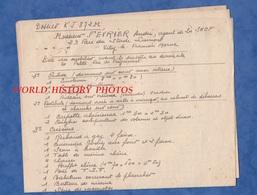 Document Ancien De 3 Pages - VITRY LE FRANCOIS - Déclaration De Mobilier Aprés Sinistres Du 16 Mai 1940 - WW2 Occupation - Documents Historiques