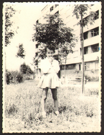 Child Girl Outdoors Old Photo 9x12 Cm #24992 - Persone Anonimi