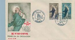 1963 , SOBRE DE PRIMER DIA , ED. 1519 / 1520 , TEMA EUROPA - FDC