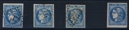 FRANCE   N° 45   /   46 - 1870 Bordeaux Printing