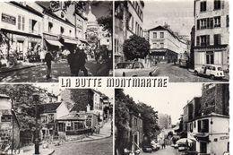 Paris 75018 Belle Multi-vues Animée La Butte Montmartre Place Du Tertre Le Lapin Agile - Piazze