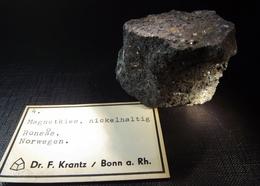 Old Dr. F. Krantz Collection ' Magnetkies' Nickelhaltig' 'Pyrrhotite' ( 7 X 4 X 3 Cm) - Ronsas - Norway - Minerals