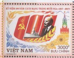 VIETNAM , 2017, MNH,OCTOBER REVOLUTION, LENIN, SHIPS, 1v - History