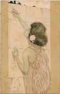 CPA Kirchner Raphaël Art Nouveau Femme Girl Circulé Dos Non Séparé - Kirchner, Raphael