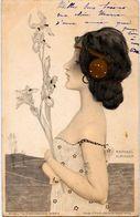 CPA Kirchner Raphaël Art Nouveau Femme Girl Circulé 1901 Dos Non Séparé - Kirchner, Raphael