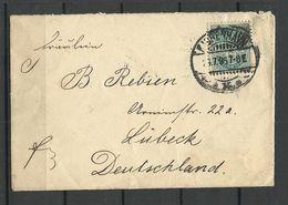 DENMARK Dänemark 1896 Brief Nach Lübeck Mit Michel 33 (1882) Als Einzelfrankatur - 1864-04 (Christian IX)