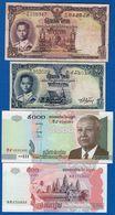 Thailande  +  Camboge  8  Billets - Tailandia