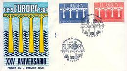 1984 , SOBRE DE PRIMER DIA , ED. 2756 / 2757 , TEMA EUROPA - FDC