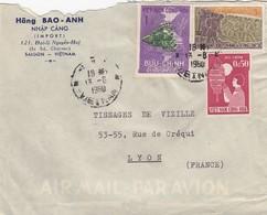LETTRE PAR AVION. VIET-NAM  SAIGON POUR LA FRANCE  / 3 - Vietnam