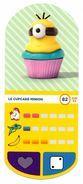 IM282 : Auchan Moche Méchant Carte N°82 Cupcake Minion - Trading Cards