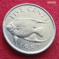 Bermuda 5 Cent 1987 KM# 45 Bermudes Bermudas Bermude - Bermuda
