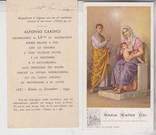 Santino Maria Mater Dei 1943 50° Sacerdozio Alfonso Carinci - Imágenes Religiosas