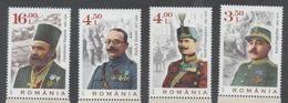 ROMANIA, 2017, MNH, WWI, WAR HEROES, 4v - WW1