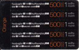ARMENIA - 5 Orange Mini Prepaid Cards 500 AMD, Exp.date 31/12/17, Used - Armenia