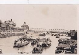 Post Card Photo  : Shanghai  (Chine)  Transport De Marchandises Sur Le Fleuve - Chine